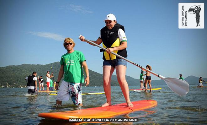 44c07eefb Lagoa da Conceição Florianópolis SC  Remada de stand-up paddle (prancha a  remo) de 1 2 ou 1 hora para até 6 pessoas no Floripa Sup Club