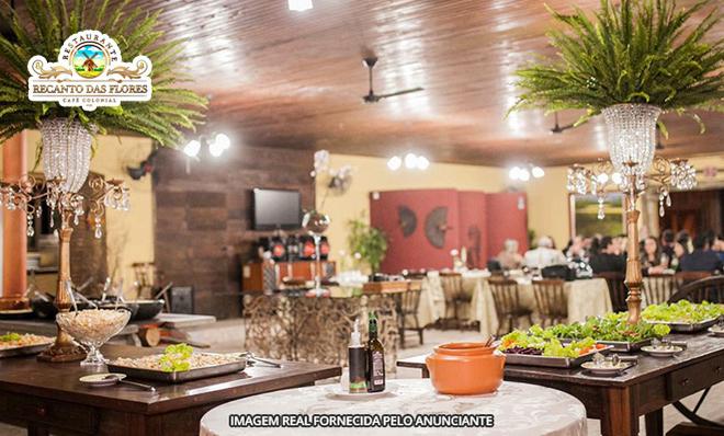 Comida Farta E Muita Natureza Almoço Com Buffet Livre No Restaurante Colonial Recanto Das Flores No Morro Azul Em Jaguaruna Válido Aos Domingos