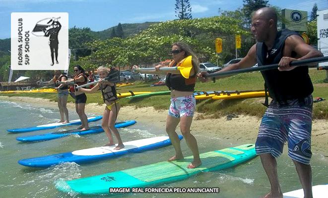 98020ff7e Lagoa da Conceição Florianópolis SC  Remada de stand-up paddle (prancha a  remo) 1 hora para 1 pessoa no Floripa Sup Club - Meu Barato